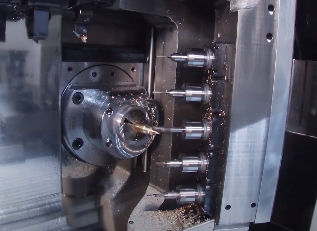 How Swiss Machines Improve Productivity with B-Axis Tooling