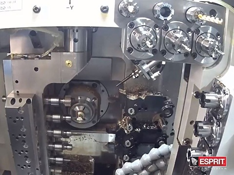 Machining Multi-Sided Part in One Setup on Swiss-Style CNC